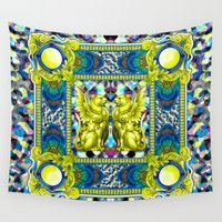 baroque Wall Tapestries featuring Rock Baroque by FakeFred