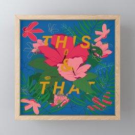 This & That Tropical Floral Framed Mini Art Print