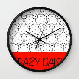 Crazy Daisy Wall Clock