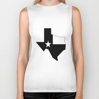 texas Biker Tanks featuring TEXAS by Fool design