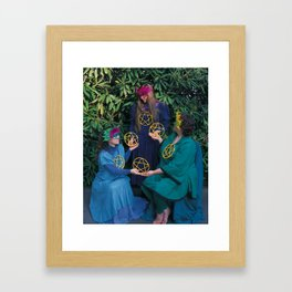 6 of Pentacles Framed Art Print