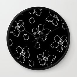 Inverted Cherry Blossom Wall Clock