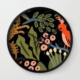 Jungle party Wall Clock