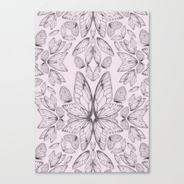 Rose Quartz Insect Wings Canvas Print
