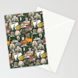 Cozy Cat Cafe and Bookstore Stationery Cards