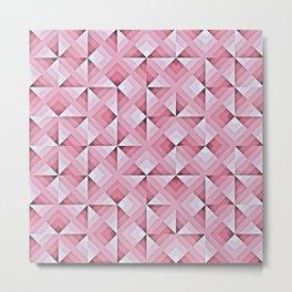 Pink Geo Pattern Metal Print