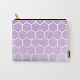 Lavender gradient honey comb pattern Carry-All Pouch