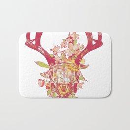 Floral deer skull print Bath Mat