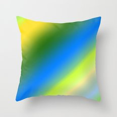 Lemon & Lime Stripes Throw Pillow