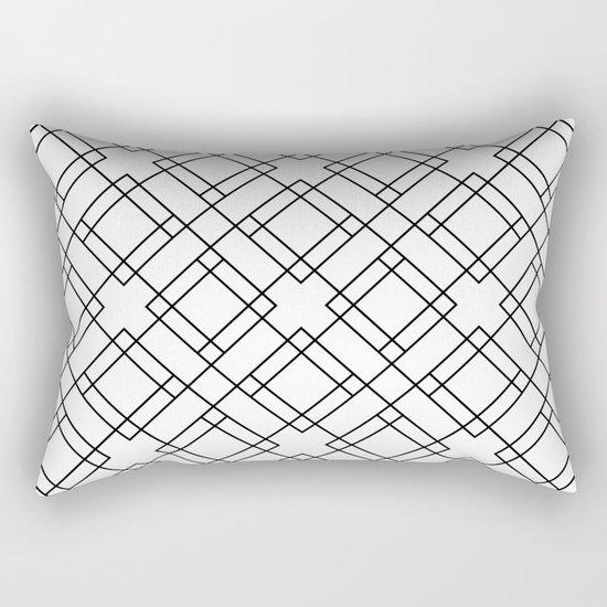 Simply Mod Diamond Black and White Rectangular Pillow