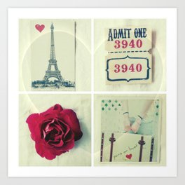 Paris Collage Art Print