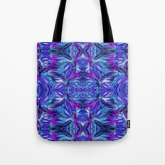 Butterfly Astract Blue Tote Bag