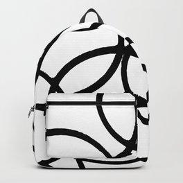 Interlocking Black Circles Artistic Design Backpack