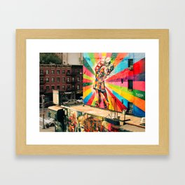 Street Art Mural, Times Square Kiss Recreation Framed Art Print