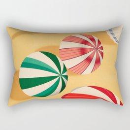 Vintage Australia Travel Poster For Australia Fly BOAC & Qantas - Sunshine and Surf Rectangular Pillow