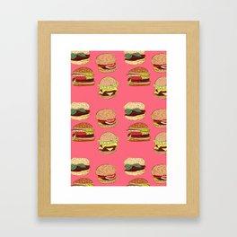 Home Sweet Hamburgers Framed Art Print