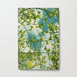 Happy Green Spring Metal Print