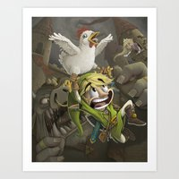 zelda Art Prints featuring Zelda by Dave Armstrong