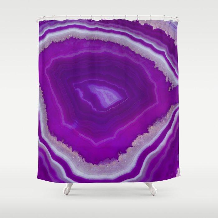 Blow My Mind Agate Shower Curtain By Scubaprincess