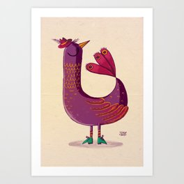 Saffron Bird Art Print