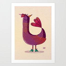 Saffron Bird Art Print