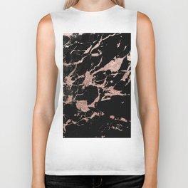 Black Marble Rose Gold Glam #1 #decor #art #society6 Biker Tank
