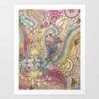 zentangle Art Prints featuring ZenTangle by abDesigns