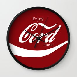 Enjoy CORD Music Wall Clock