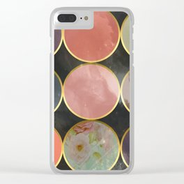 Colourful Circular Universe Clear iPhone Case