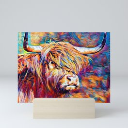 Highland Cow 6 Mini Art Print