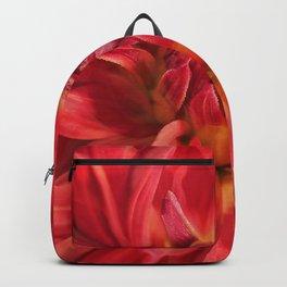 Dahlia red flower Backpack