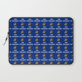 flag of winconsin 2-america,usa,midwest,great lakes, Wisconsinite, Badger, Dairyland, Laptop Sleeve