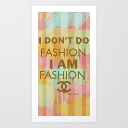 Fashion Typography Art Print
