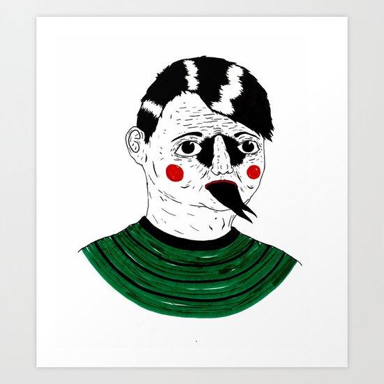 Snake Kid Art Print