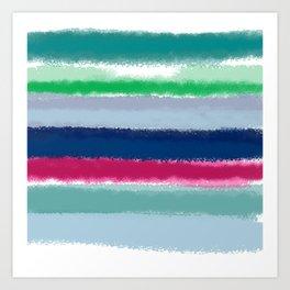Blues, Aqua, Greens, and Pinks Art Print