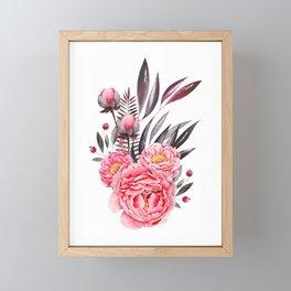 Peonies Bouquet Framed Mini Art Print