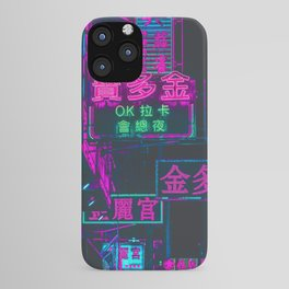 Hong Kong Neon Aesthetic iPhone Case