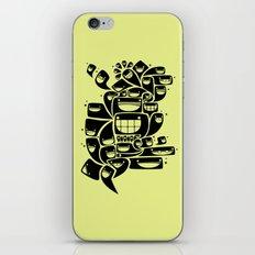 Happy Squiggles - 1-Bit Oddity - Black Version iPhone & iPod Skin