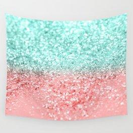 Summer Vibes Glitter #1 #coral #mint #shiny #decor #art #society6 Wall Tapestry