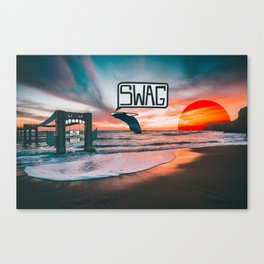 Swag Whale Canvas Print