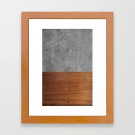 Concrete and Wood Luxury Framed Art Print