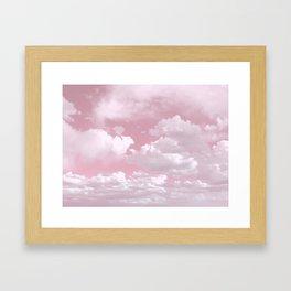 Clouds in a Pink Sky Framed Art Print