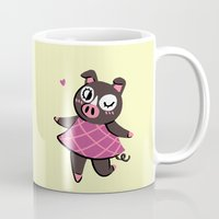 agnes Mugs featuring Agnes by seaeyedraw