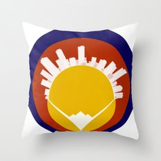 Eolus / Denver / Colorado Throw Pillow