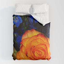 Blue Nights & Orange Skies Comforters
