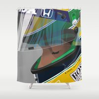 senna Shower Curtains featuring Senna Meditation by Borja Sanz