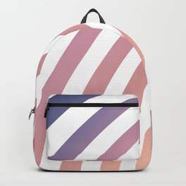 Soft pastel abstract lines Backpack