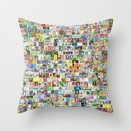 Tennis Stamps Throw Pillow