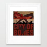 the mortal instruments Framed Art Prints featuring The Mortal Instruments: City of Bones by thespngames
