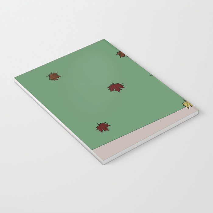 Bessie the Calf and Fall Leaves Notebook